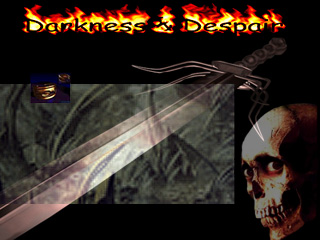 Splash screen from the old Darkness & Despair website.
